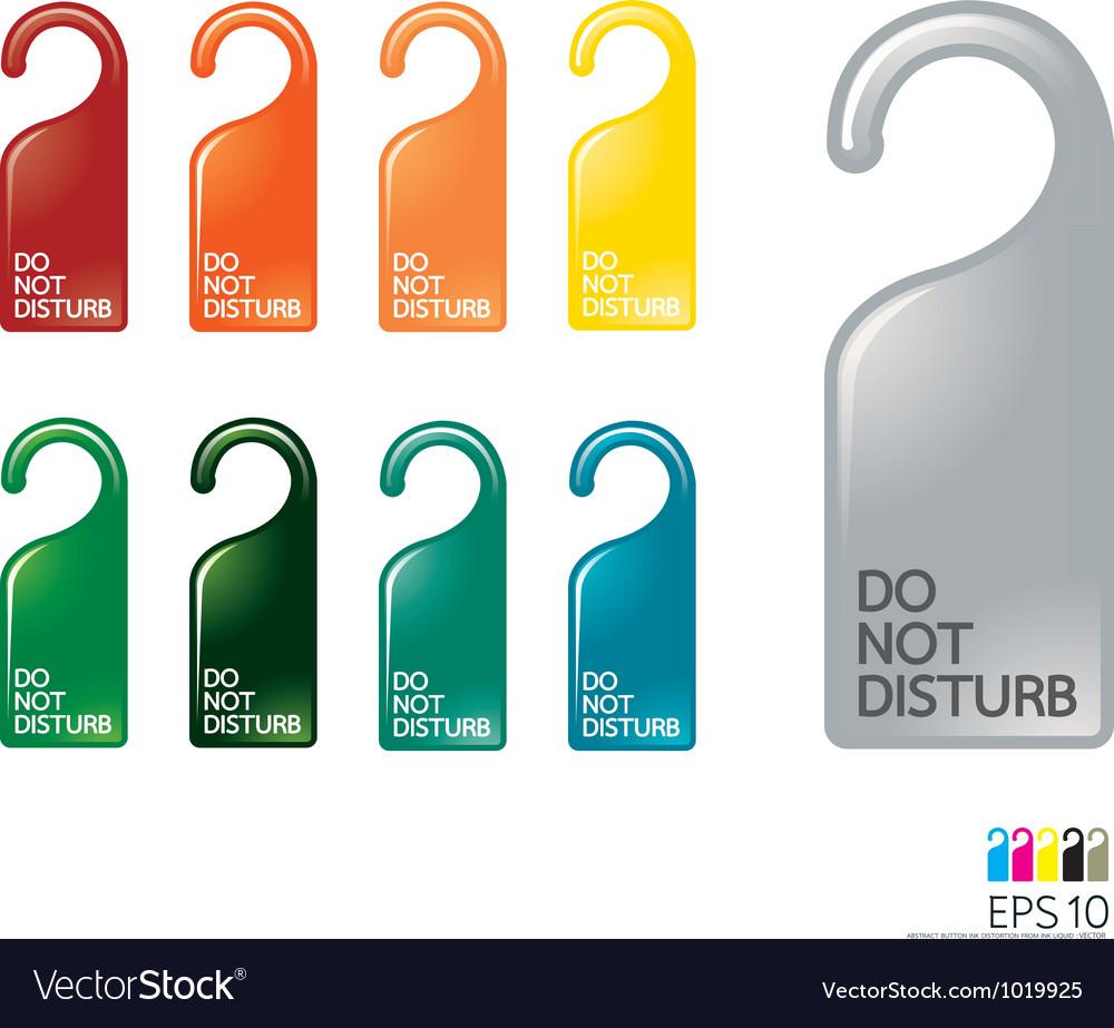 Door knob or hanger sign - do not disturb vector image