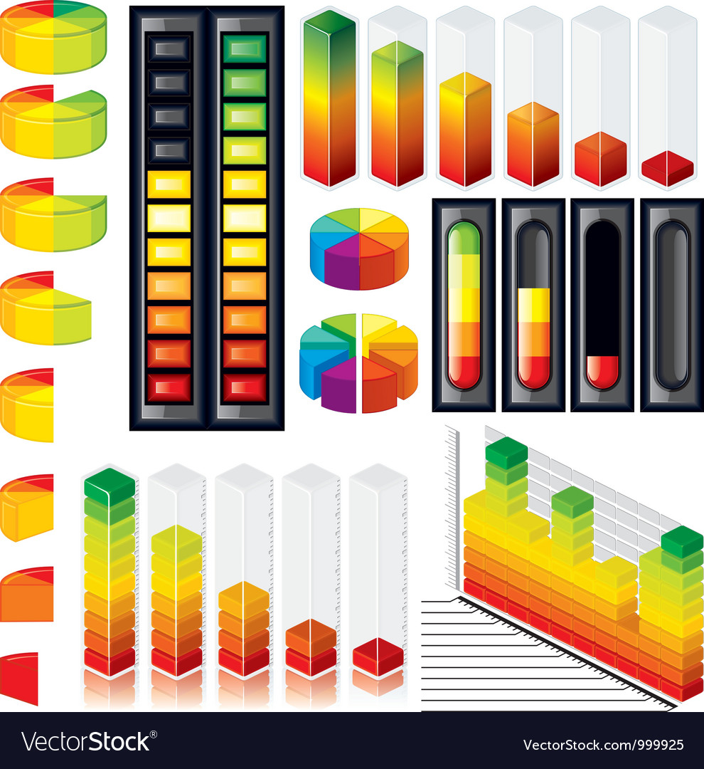 Isolated Infographics Design Elements vector image
