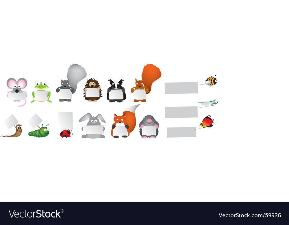 Wildlife vector image