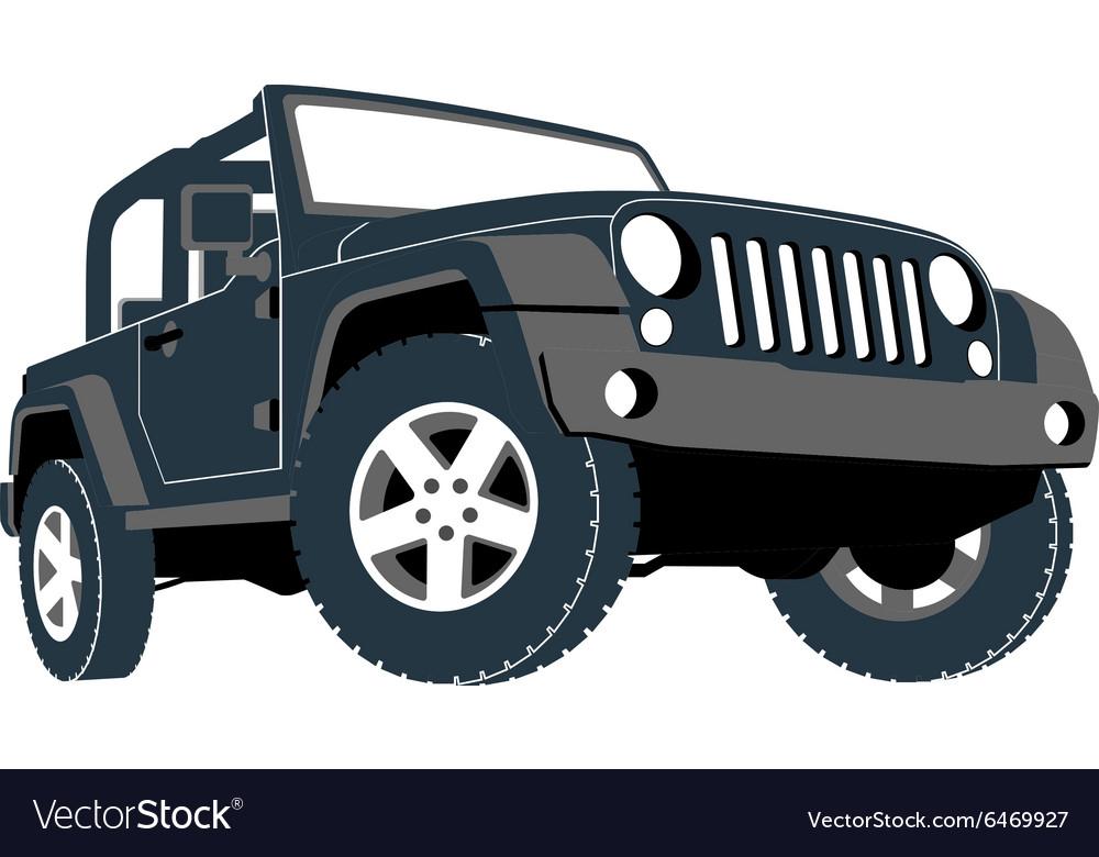 Convertible Car Off Road Jeep Suv Royalty Free Vector Image