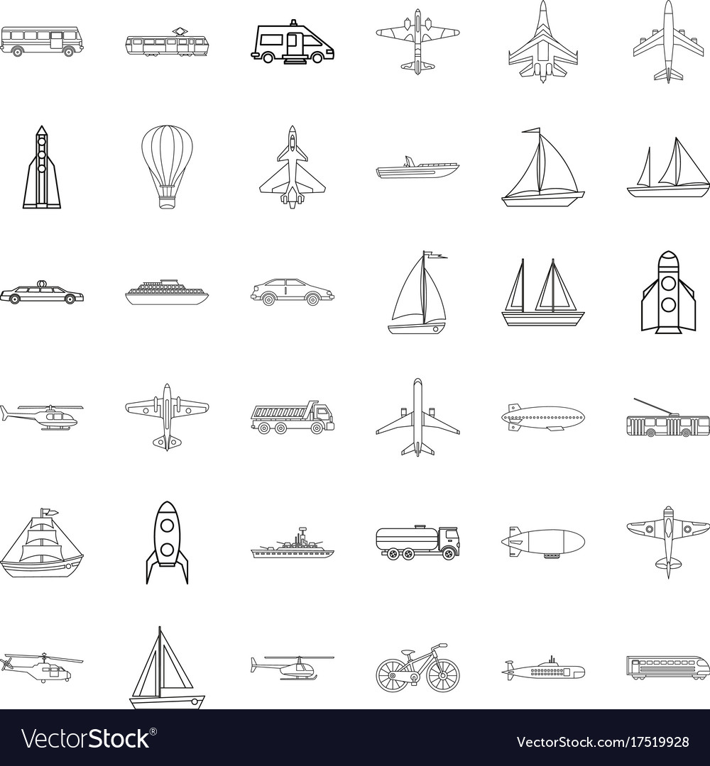 concrete mixer icons set outline style vector 17519928 concrete mixer icons set outline style royalty free vector