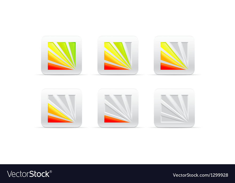 Segmental color indicator vector image