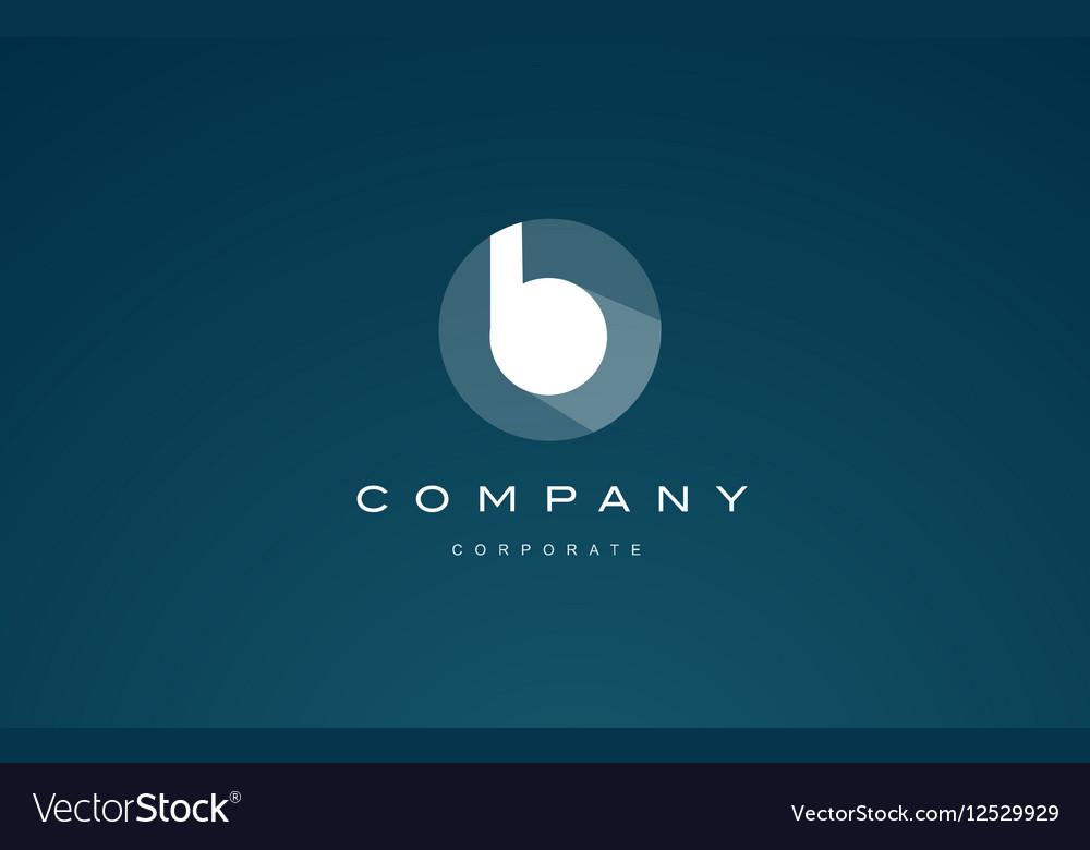 Alphabet blue letter small b logo icon vector image