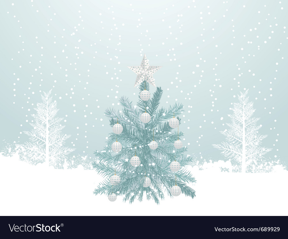Christmas winter scene Royalty Free Vector Image
