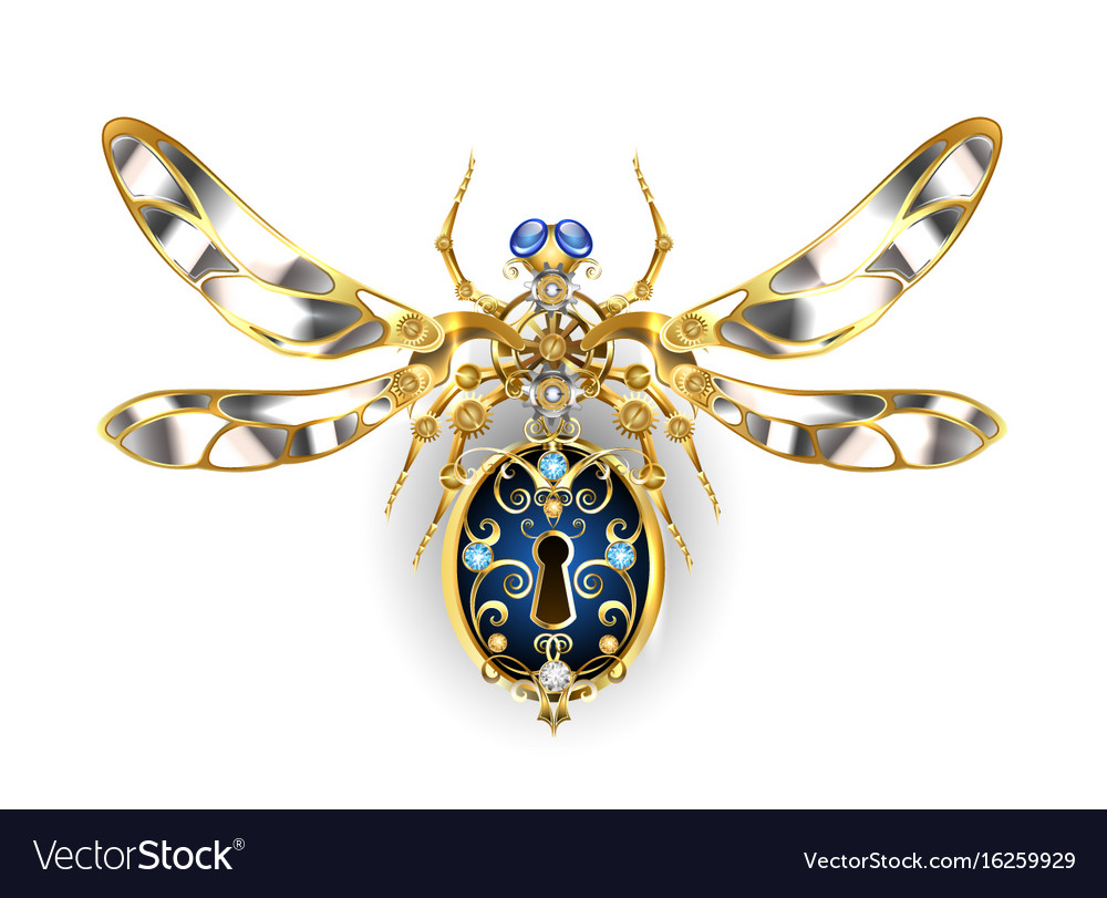 Mechanical insect vector image