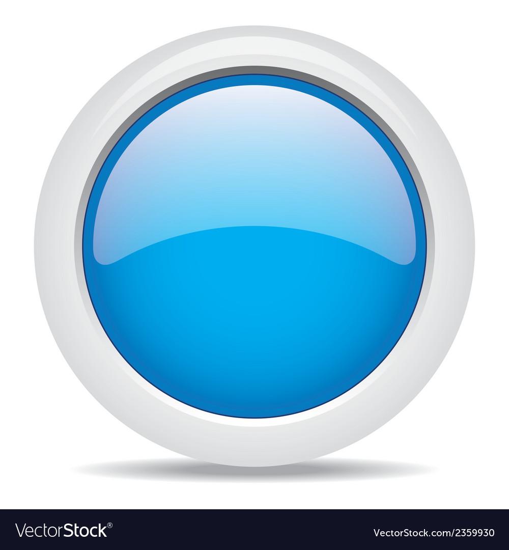 Popular blue color web button 3d Royalty Free Vector Image
