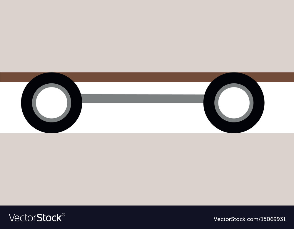 Skate board wooden wheels image icon vector image