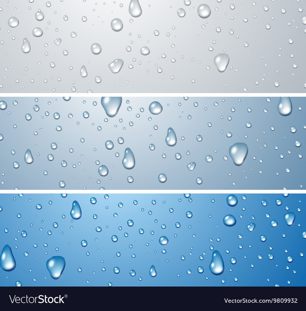 Banners with water drops vector image