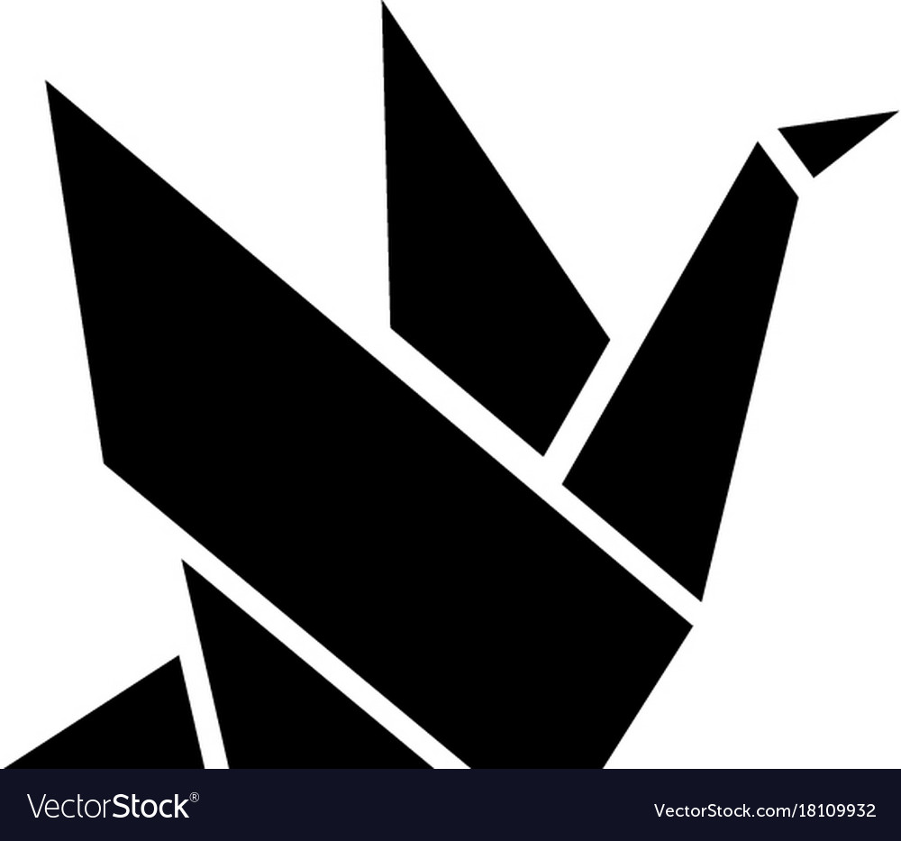 Origami icon black sign on royalty free vector image origami icon black sign on vector image jeuxipadfo Gallery