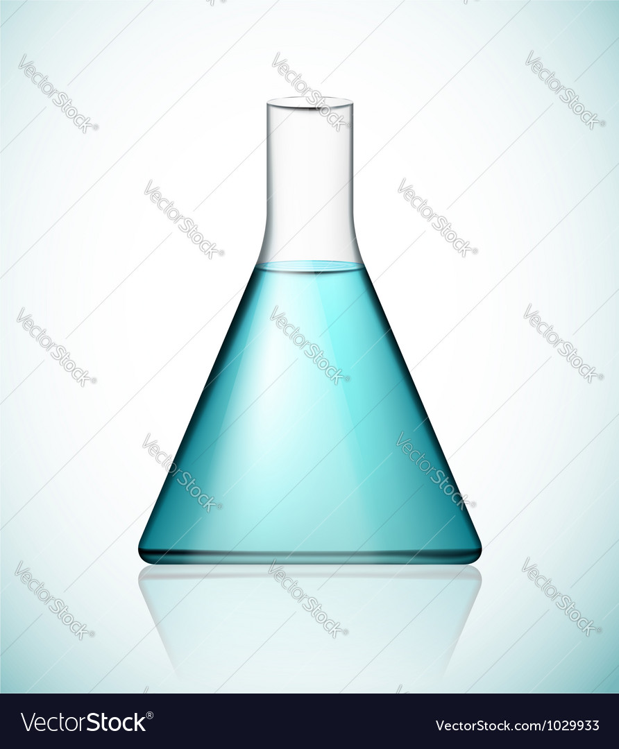Flask with solution vector image