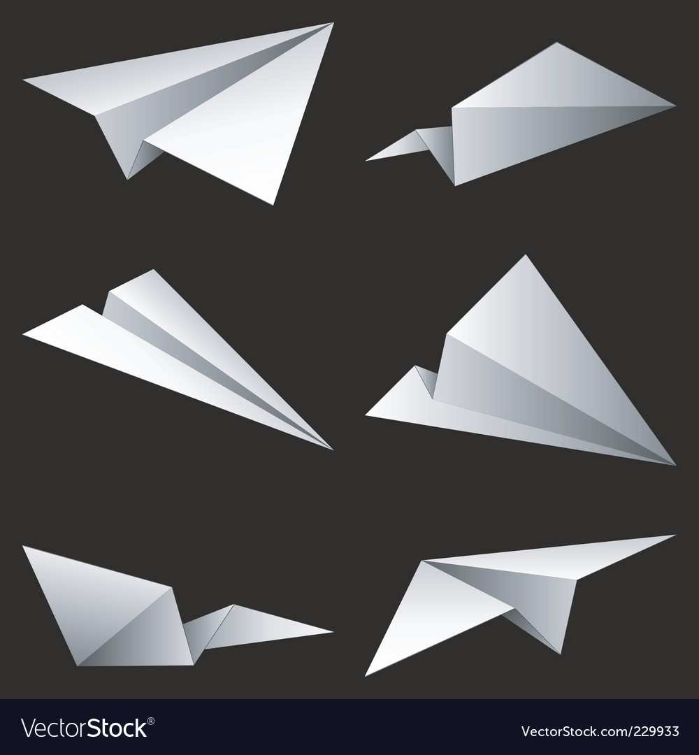 Paper airplanes Vector Image