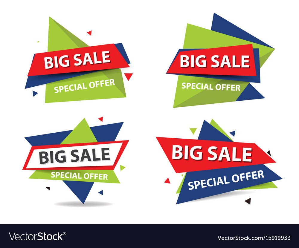 Colorful shopping sale banner template discount vector image