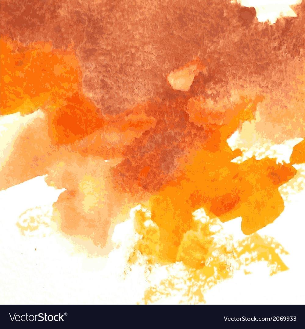 Orange watercolor vector image