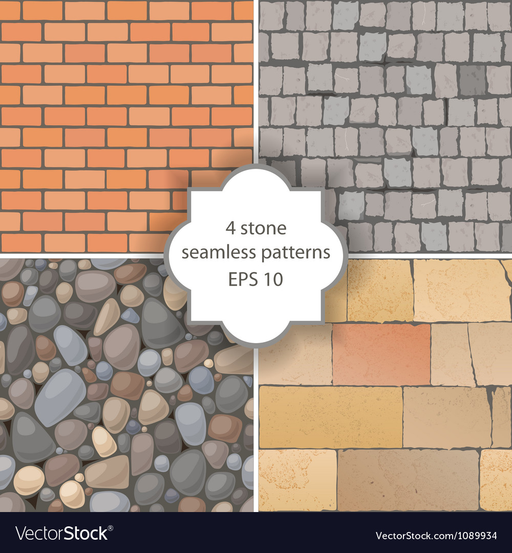 Stone patterns vector image