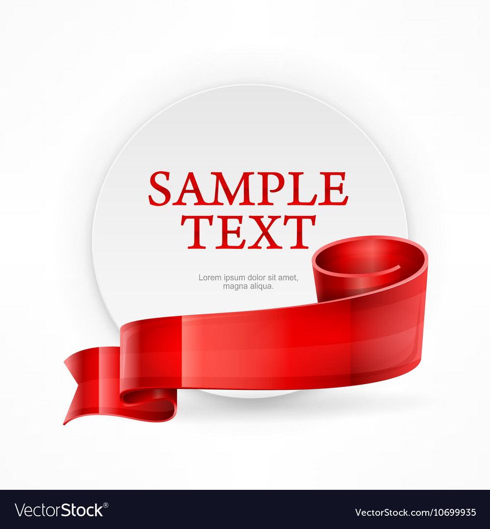 Circle frame with text vector image