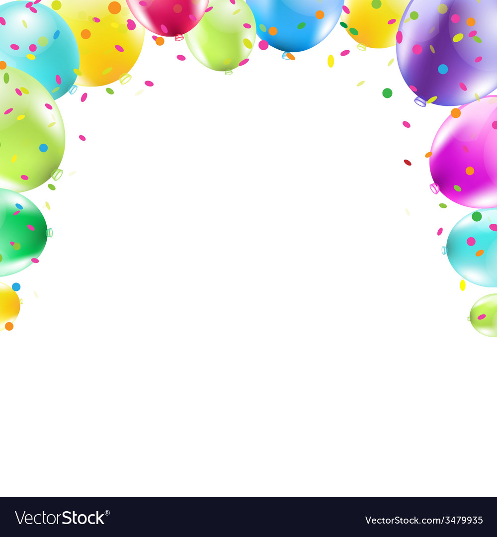 Color Balloons Frame vector image