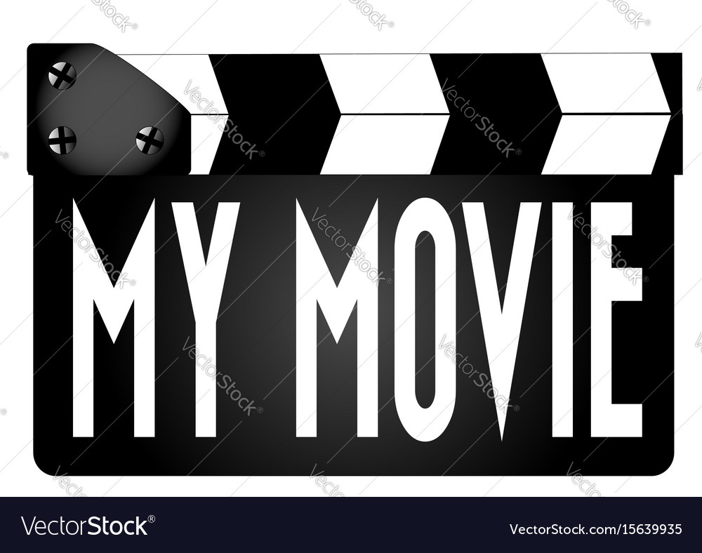 My movie clapperboard vector image