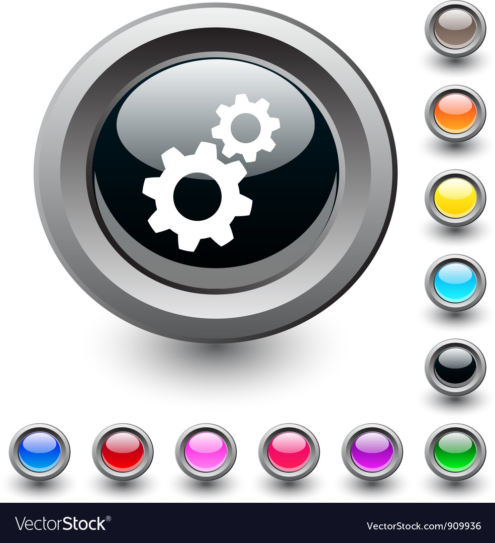 Tools round button vector image