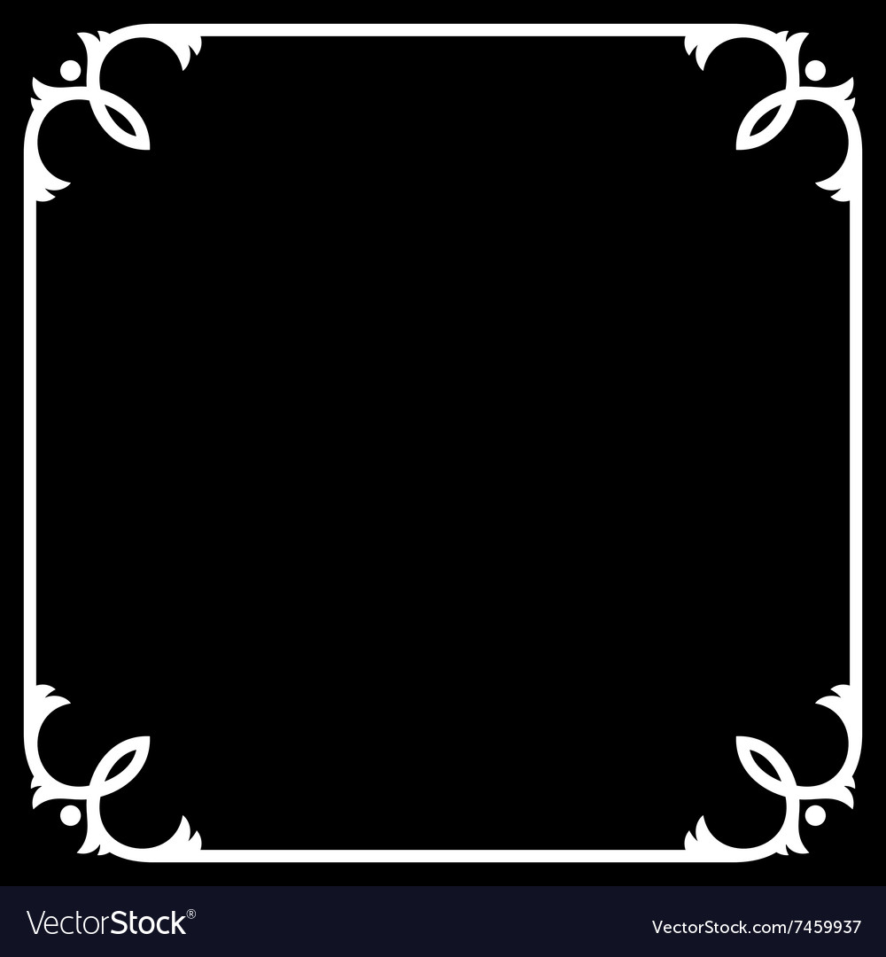 Silent Movie Black Frame with White Border vector image