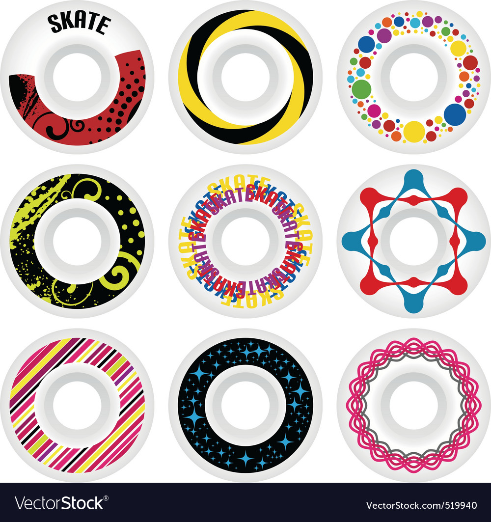 Design skate wheels vector image