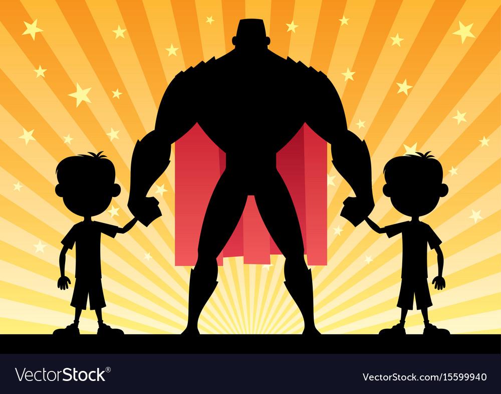 Super dad twin boys vector image