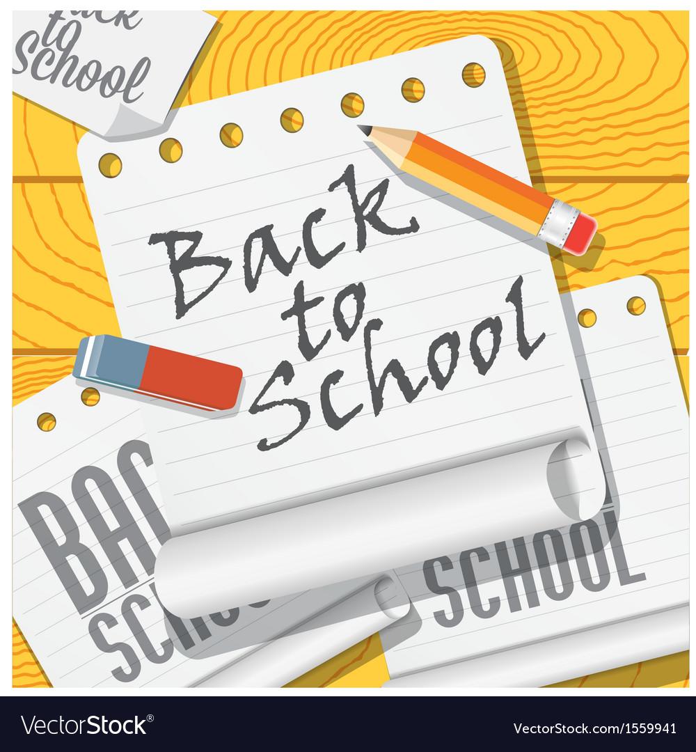 Back to school vector image