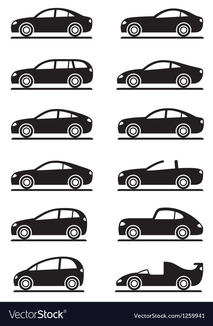 Different modern cars vector image