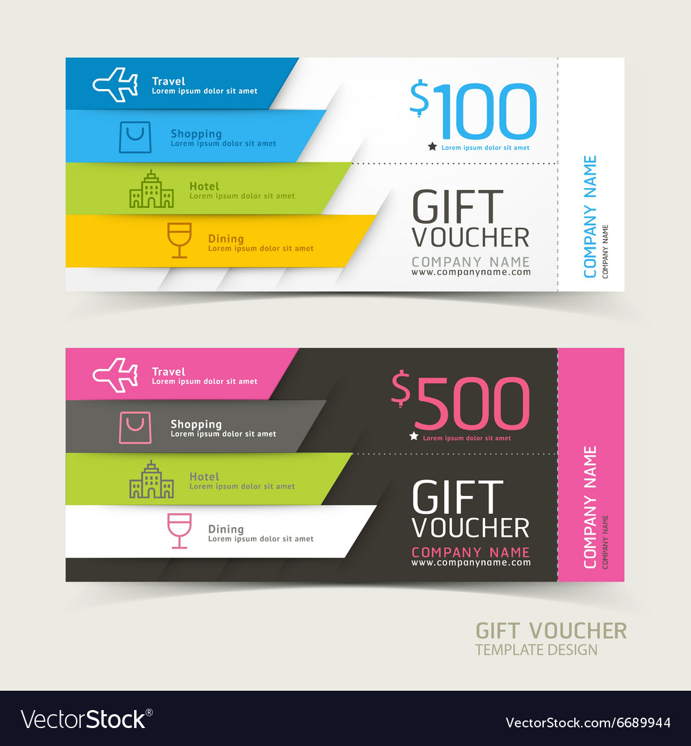 Gift voucher design template Royalty Free Vector Image VectorStock – Voucher Design