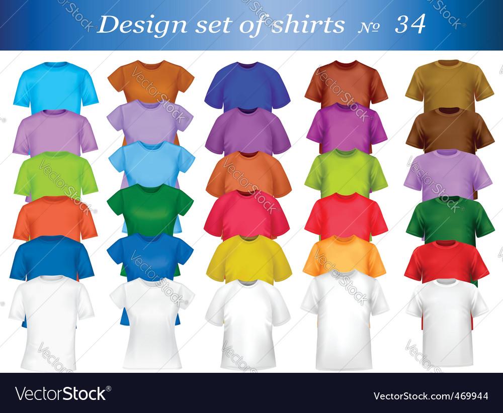 T-shirt set vector image