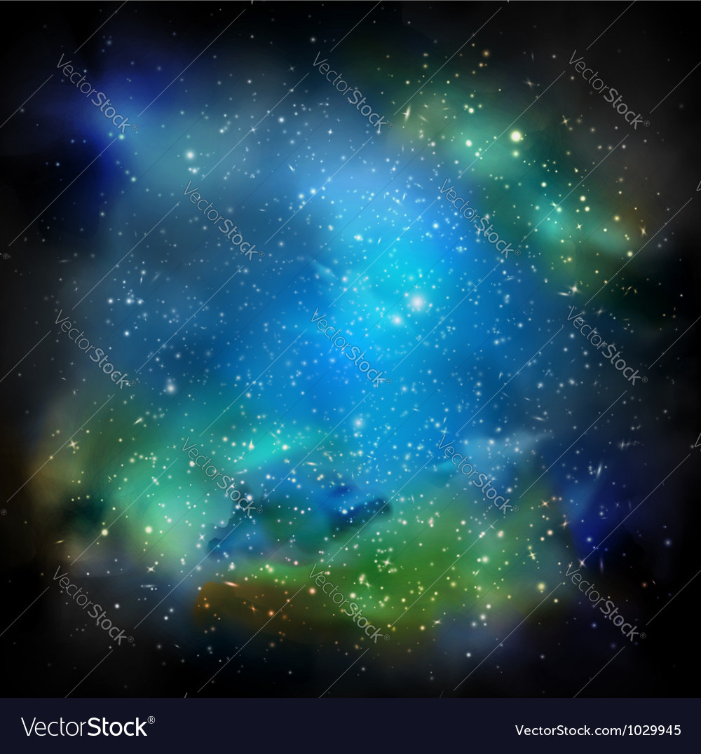 The Galaxy vector image