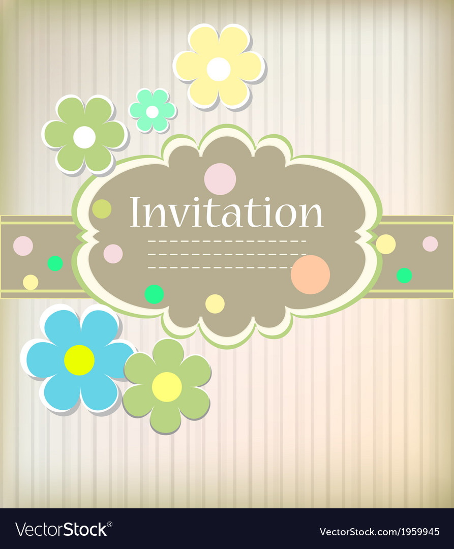 Beautiful card for invitation vector image