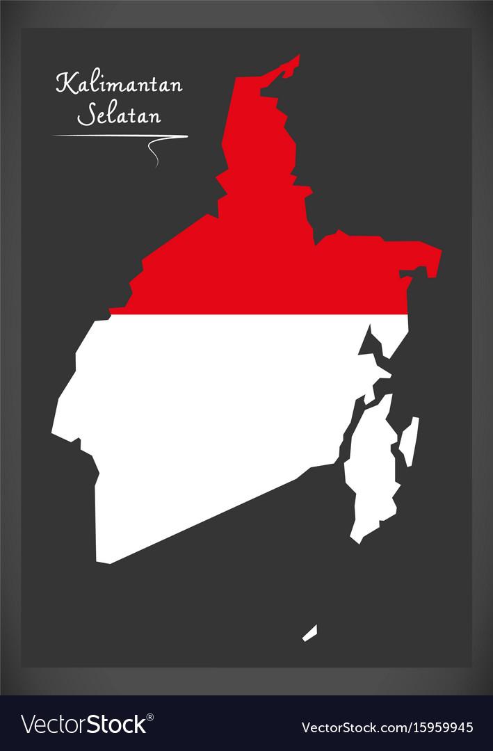 Kalimantan selatan indonesia map vector image