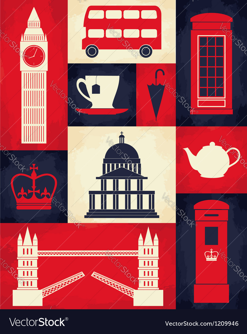 Retro London Poster vector image