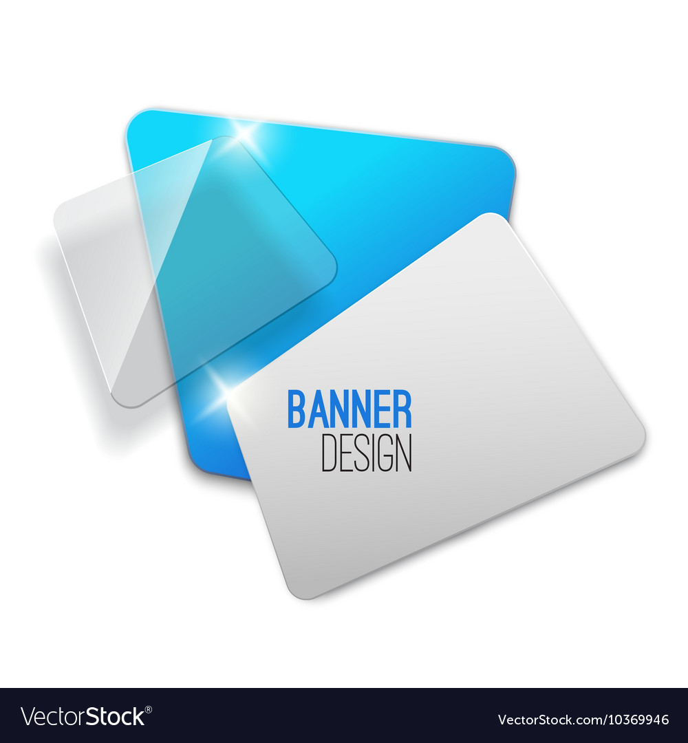 Creative realistic abstract transparent banner vector image