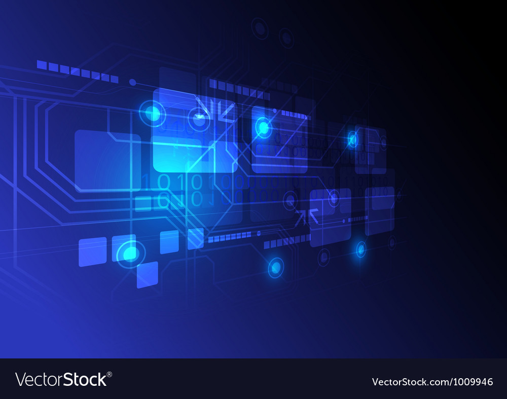 Digital technology concept background vector image