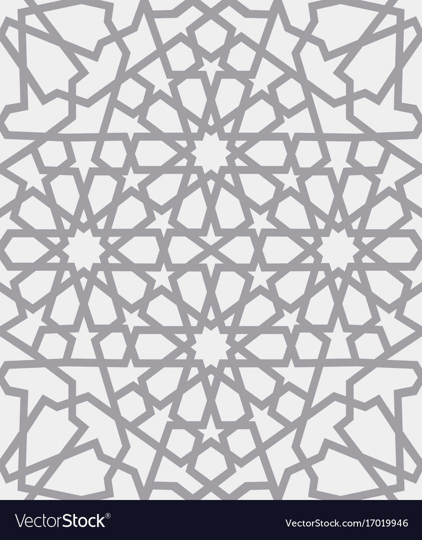 Islamic pattern seamless arabic geometric Vector Image for Modern Arabic Pattern Vector  570bof