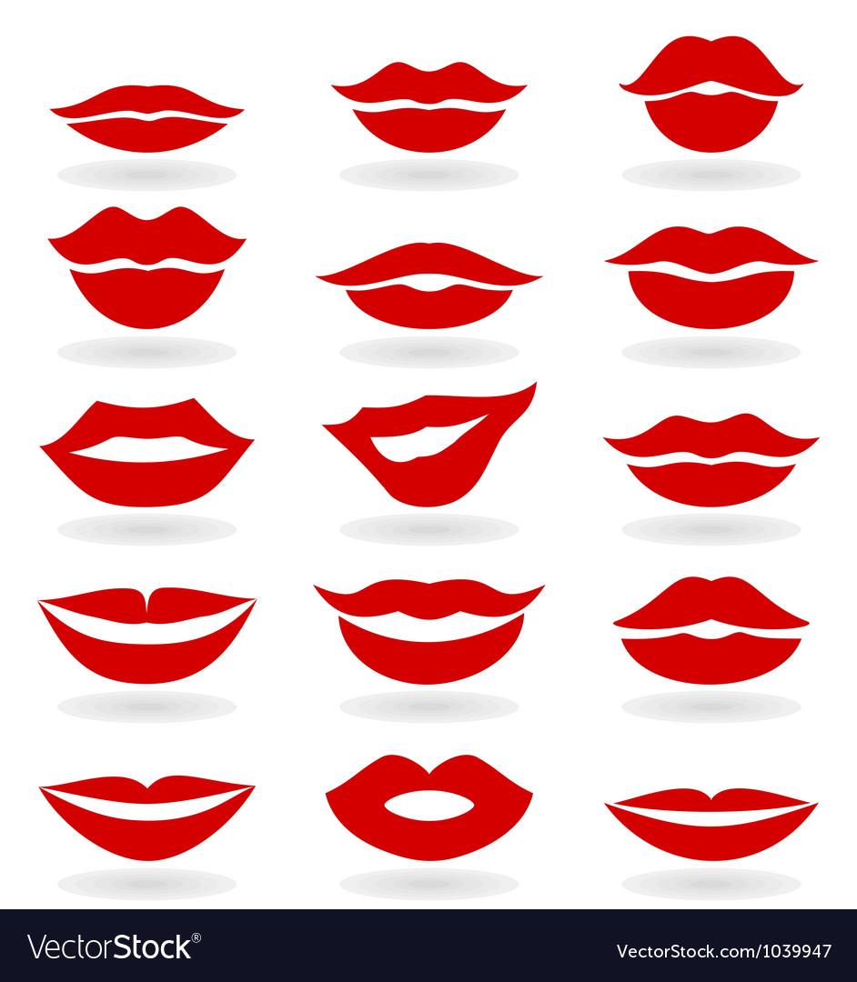 Lips6 vector image