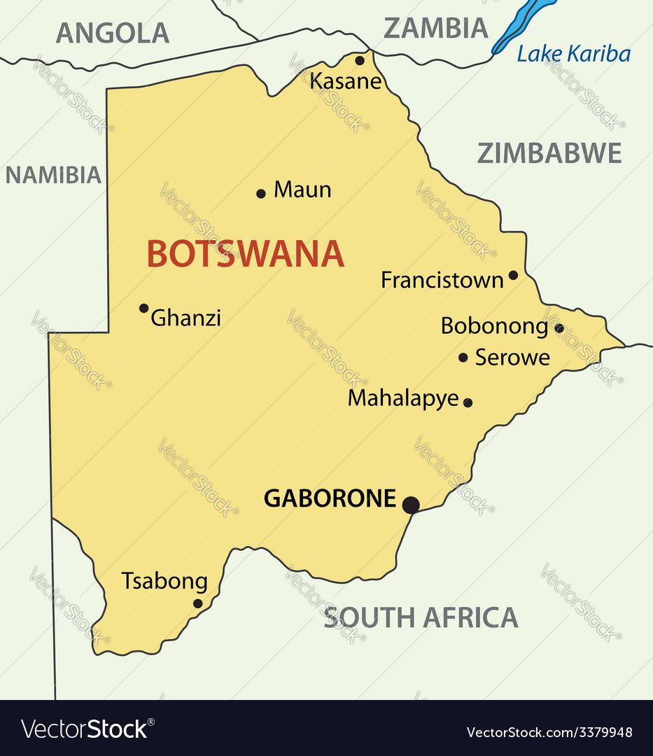 Republic of Botswana map Royalty Free Vector Image