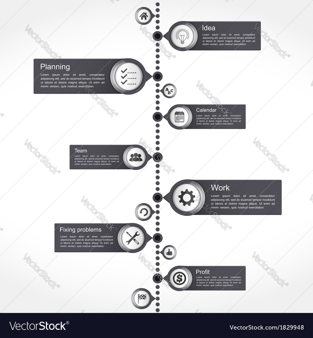 Timeline Design Template Royalty Free Vector Image - Timeline design template
