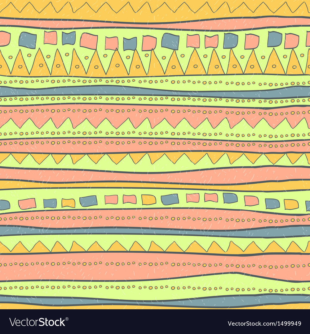 Hand drawn pattern Vector Image