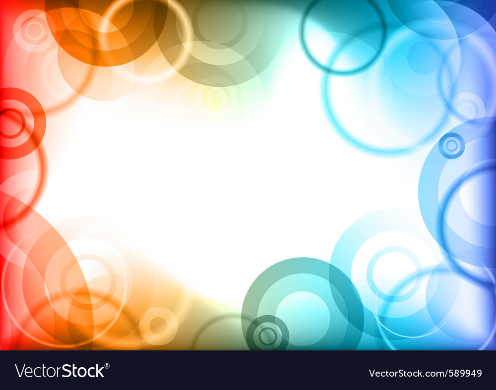 Abstract border vector image