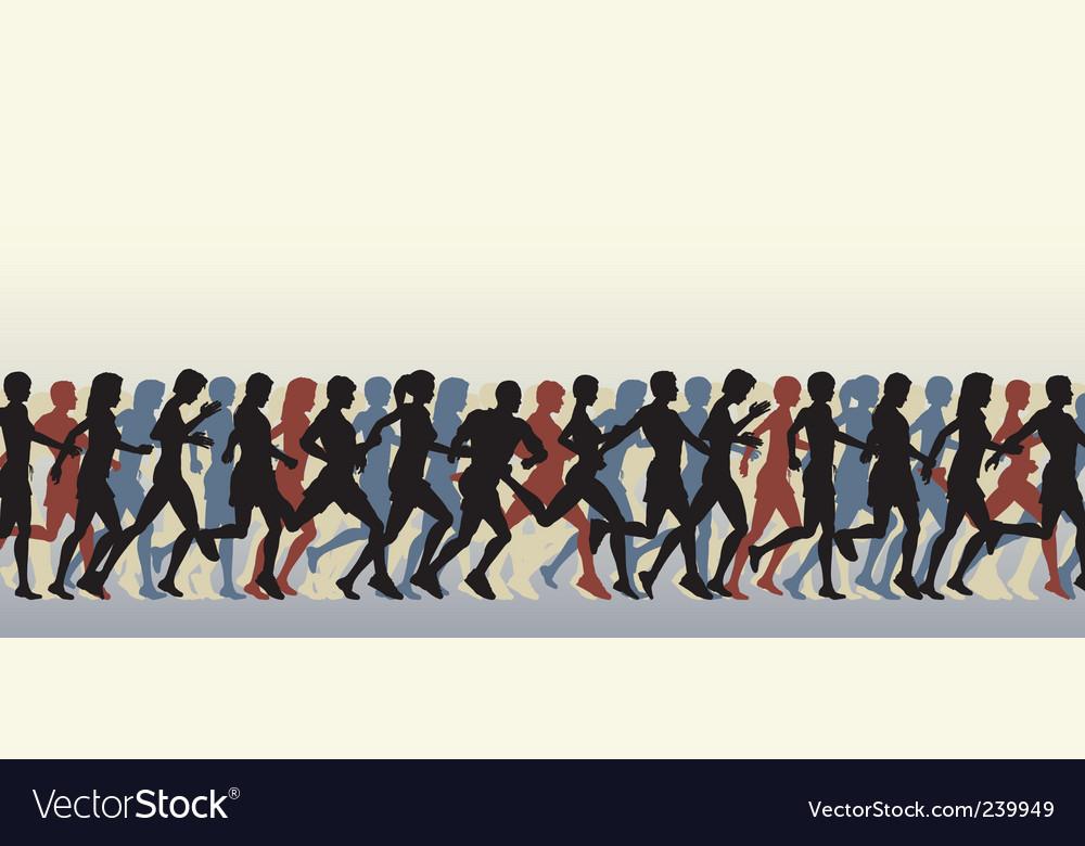Mass runners vector image