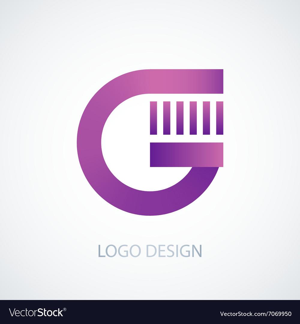 Logo letter g vector image