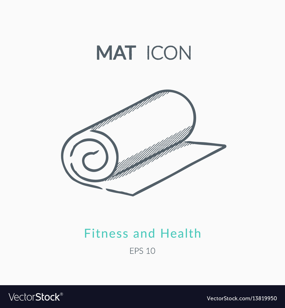 Mat icon on white background vector image