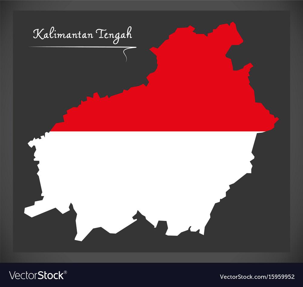 Kalimantan tengah indonesia map with indonesian vector image