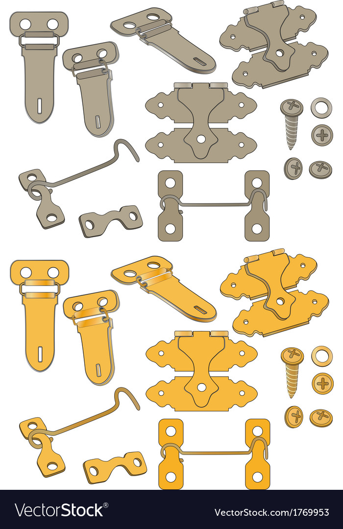 The complete set of latches vector image
