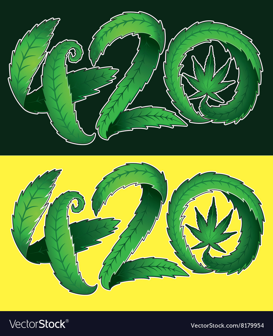 Marijuana leaf symbol and 420 hemp text royalty free vector marijuana leaf symbol and 420 hemp text vector image biocorpaavc