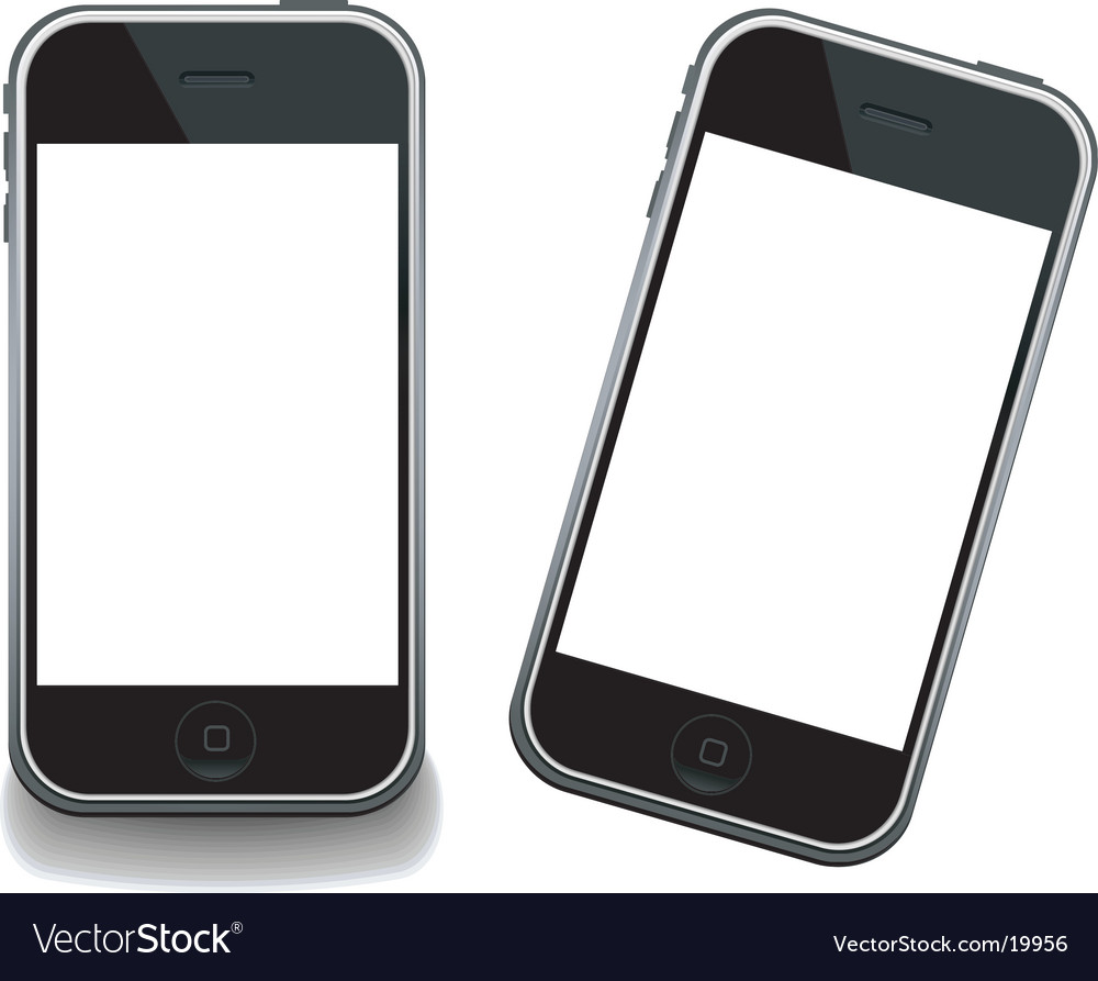 IPhone modern gsm templates vector image