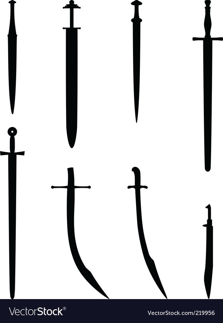 Various swords vector image