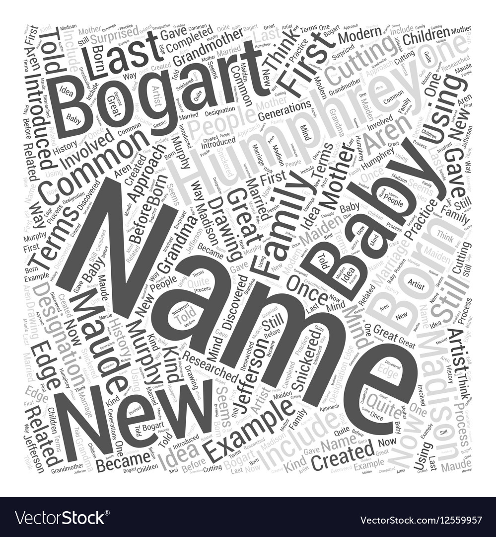 New born baby names Word Cloud Concept vector image